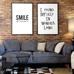 salon; pracownia projektowania wnętrz: styl , w kategorii Salon zaprojektowany przez MIKOŁAJSKAstudio