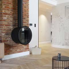 Dom w Kleczy Dolnej - zdjęcia z realizacji: styl , w kategorii Salon zaprojektowany przez MIKOŁAJSKAstudio