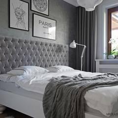 sypialnia przytulna-cosy bedroom: styl , w kategorii Sypialnia zaprojektowany przez MIKOŁAJSKAstudio