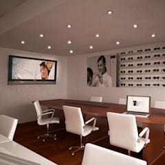 Sala de Juntas - Optica Zeiss de México: Oficinas y tiendas de estilo  por Unikco Arquitectos