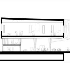 FRAGMENT: Salle de sport de style de style Moderne par Florence Gaudin architecte