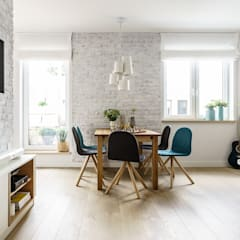 scandinavian Dining room by Saje Architekci Joanna Morkowska-Saj