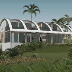 Maison Bel: Maisons de style  par Jean-Marc Achy Architecte DPLG