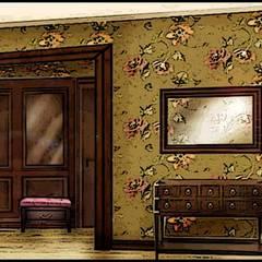 Квартира в стиле прованс: Коридор и прихожая в . Автор – Дизайн-бюро Анны Шаркуновой 'East-West'