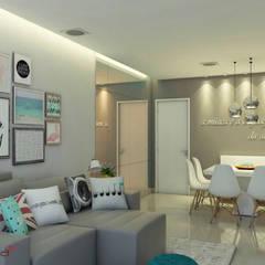 Projeto apartamento: Salas de estar  por Mais Arquitetura 34