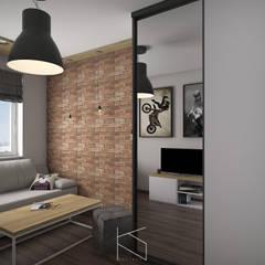 Projekt pokoju dla nastoletniego fana jednośladów: styl , w kategorii Pokój dziecięcy zaprojektowany przez KN.wnętrza
