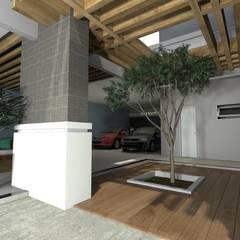 Projeto de um sobrado Residencial Unifamiliar.: Jardins de inverno  por RVA Arquitetura