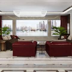 Modern Living room interior of Katrina Antonovich:  Living room by Luxury Antonovich Design