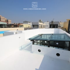 頂樓玻璃屋:  露臺 by 協億室內設計有限公司