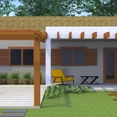 Vista Frontal: Casas ecléticas por Arquitetura Pronta
