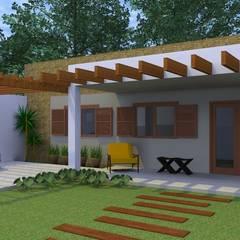 Vista perspectiva: Casas ecléticas por Arquitetura Pronta