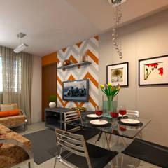 Decoração Apartamento C.O.: Salas de jantar ecléticas por DTE Arquitetura