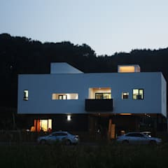 청유재: 디자인랩 소소 건축사사무소의  단층집