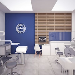 Gabinet : styl , w kategorii Kliniki zaprojektowany przez STUDIO 180°