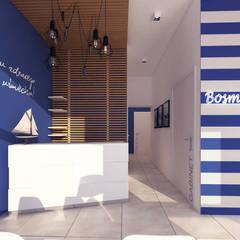 Poczekalnia : styl , w kategorii Kliniki zaprojektowany przez STUDIO 180°