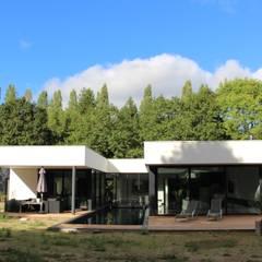 Black and White: Jardin de style  par AM architecture, Minimaliste
