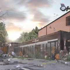 Meteor Mimarlık & Tasarım – Fabrika & Ofis:  tarz Ofis Alanları