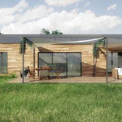 Maison RJ (isolation paille): Fenêtres de style  par Belle Ville Atelier d'Architecture,