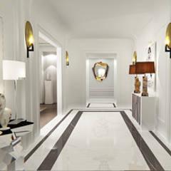 Hall d'Entrée / Entrance Hall: Couloir et hall d'entrée de style  par Luxury Interiors