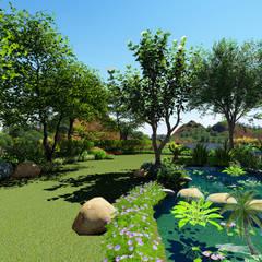 Jardin Contemporain Naturel - Suisse: Jardin de style de stile Rural par PALMA CONCEPT
