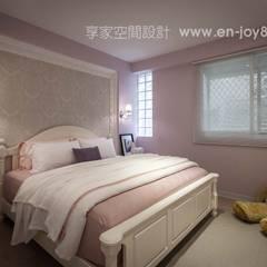 Chambre de style  par 享家空間設計