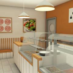 Restaurante Take Away: Espaços de restauração  por AUREAinteriores
