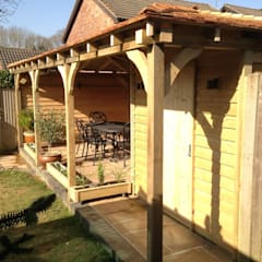Gazebo & Garden Storage:  Terrace by Miniature Manors Ltd