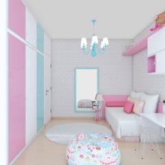 QUARTO INFANTIL FEMININO: Quarto infantil  por Anna de Matos - Designer de Ambientes e Paisagismo