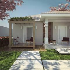 Casa de alvenaria: Casas clássicas por Cíntia Schirmer | Estúdio de Arquitetura e Urbanismo