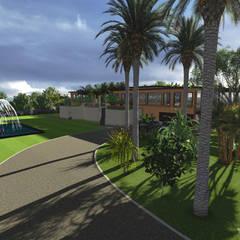 Villa Privée - Style Tropical - Nerja España: Jardin de style  par PALMA CONCEPT, Tropical