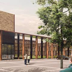 C.O.R.ZE.T.TI  - Centro Oncologico, ResidenZE assistite e Trattamenti riabilitanTI. : Ospedali in stile  di DBmLab Donati & Bottelli Architects