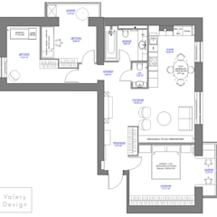 Квартира с историей: Стены в . Автор – Valery Design