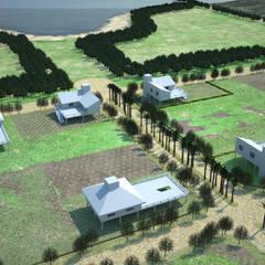 Loteo en Rincon Norte: Jardines de estilo  por Estudio Marcos Fernandez