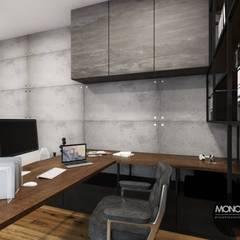Gabinet domowy: styl , w kategorii Domowe biuro i gabinet zaprojektowany przez MONOstudio