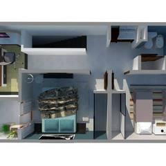 Planta Alta: Dormitorios de estilo mediterraneo por Estudio ACC
