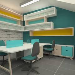 Oficinas: Oficinas y Tiendas de estilo  por Dies diseño de espacios, Escandinavo