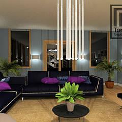 Repaginação de Ambientes: Salas de estar  por TORRES DINIZ ARQ. E INTERIORES