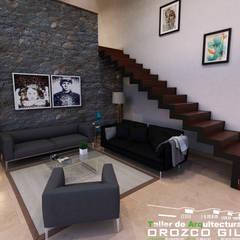 CASA MONTERRA 1: Salas de estilo  por OROZCO GIL TALLER DE ARQUITECTURA