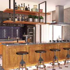 Área Gourmet: Cozinhas  por MS One Arquitetura & Design de Interiores