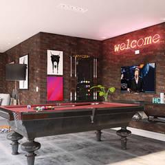 Media room by MS One Arquitetura & Design de Interiores
