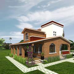 Fachada lateral: Casas de estilo  por Arqternativa