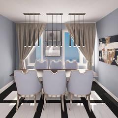 Chloe Design & Decor/Anastasia Baskakova: minimal tarz tarz Yemek Odası