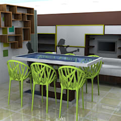 Children's games room and study area:  Media room by CKW Lifestyle