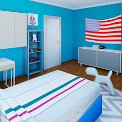 Teenager boy's room : industrial Nursery/kid's room by CKW Lifestyle