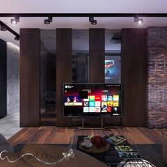 Loft для холостого молодого парня в Питере: Медиа комнаты в . Автор – Your royal design