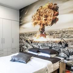 Mieszkanie z charakterem dla singla: styl , w kategorii Sypialnia zaprojektowany przez Perfect Space