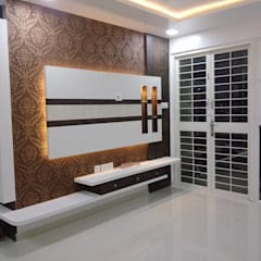 Living room by SHARADA INTERIORS, Modern