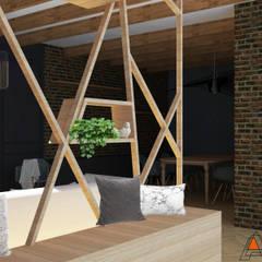 Espace entrée: Couloir et hall d'entrée de style  par Agence Adeline Allard