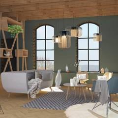 Espace salon: Salon de style de style Scandinave par Agence Adeline Allard