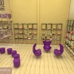 Oficinas y Tiendas de estilo  por CKO ARQUITETURA